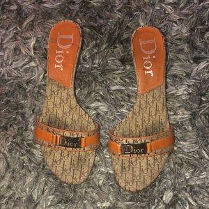 sale! Vintage DIOR logo heels